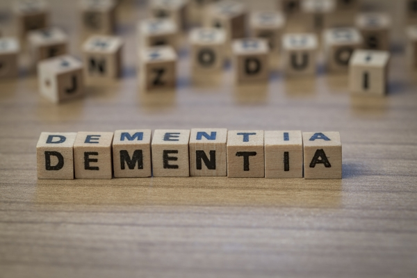 Dementia written in wooden cubes