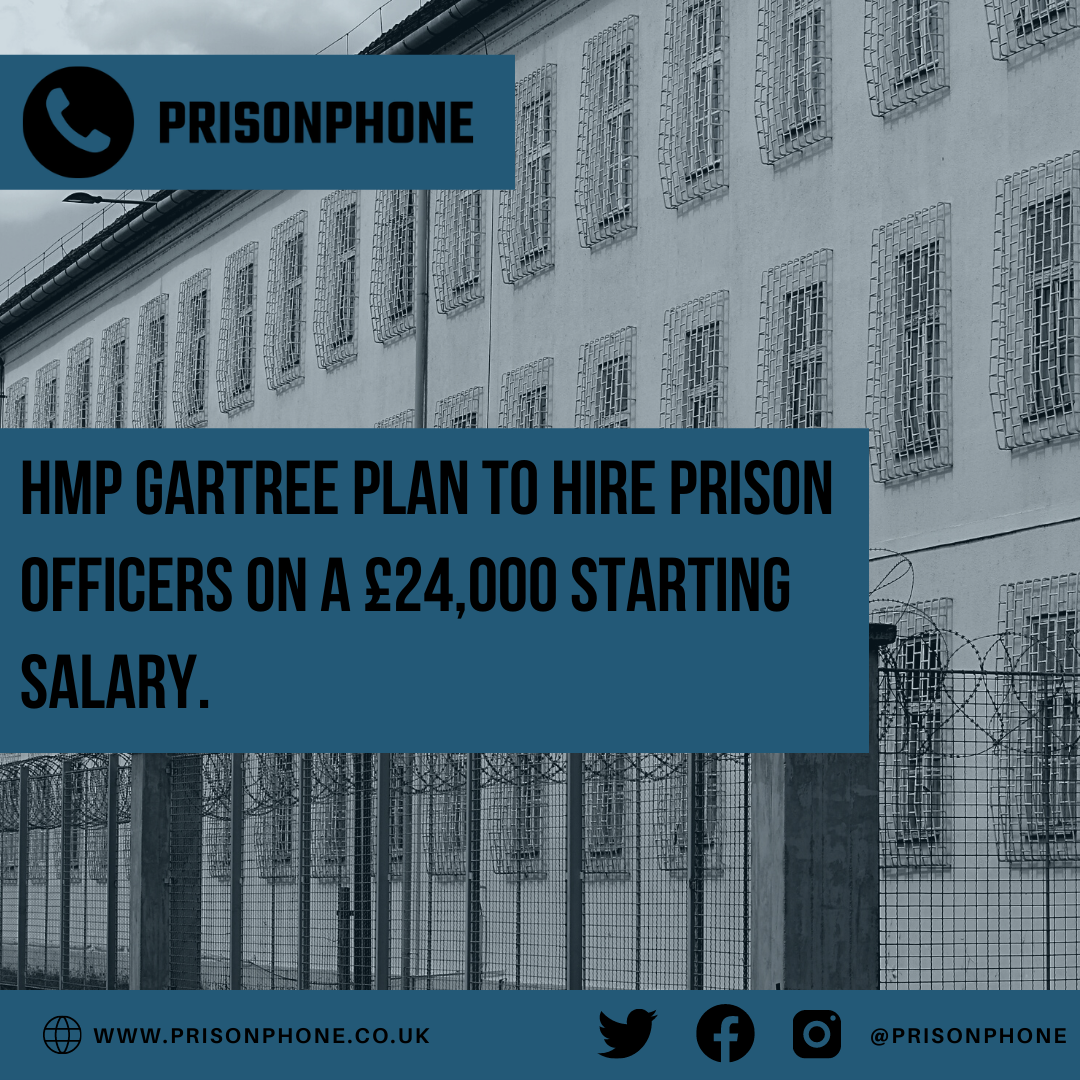 HMP Gartree plan to hire Prison Officers on a £24,000 starting salary.